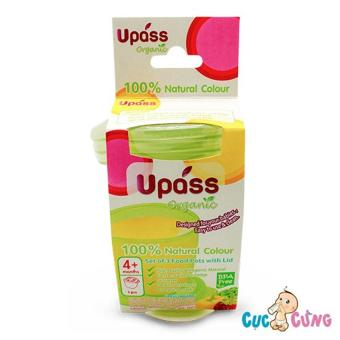 Bộ ba hộp đựng thức ăn Upass UP4187OL (Xanh)