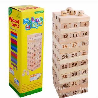 Bộ trò chơi rút gỗ WOOD TOYS loại lớn (Kem)