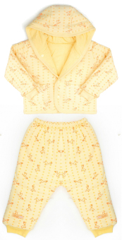 Bộ quần áo bông ba lớp Lullaby (Vàng)