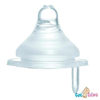 Ty bình sữa Simba Silicone cổ rộng size S (lỗ tròn)