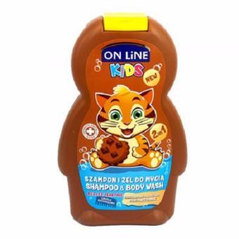 Sữa Tắm Gội 2in1 On Line Kids Hương Chocolate - 250ml(Nâu)