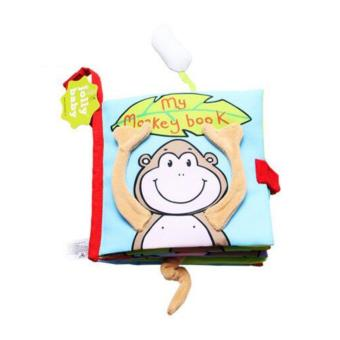 Sách vải Jollybaby My monkey book cho bé chơi mà học