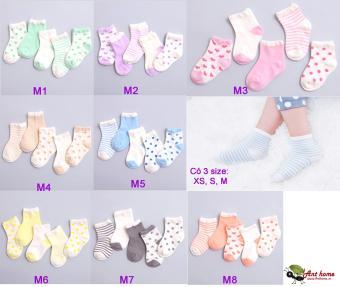 Combo 5 đôi vớ (tất) bé trai từ 0-1 tuổi size XS mẫu M5