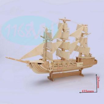 Bộ xếp hình 3D mô hình thuyền buồm phương tây