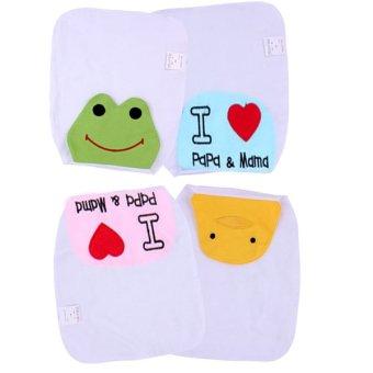 Bộ 4 khăn thấm mồ hôi lưng cho bé