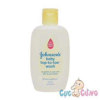 Sữa tắm gội toàn thân Johnson Baby 100ml Top To Toe