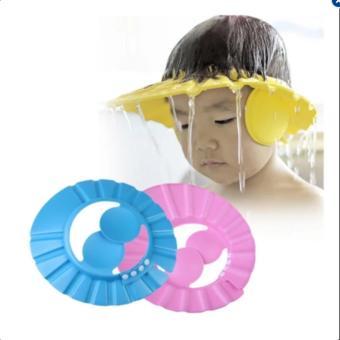 Mũ gội đầu chắn nước có vành tai cho bé(xanh dương)