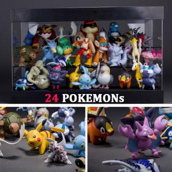 Bộ 24 tượng thú Pokemon Go cao 2-3cm F579