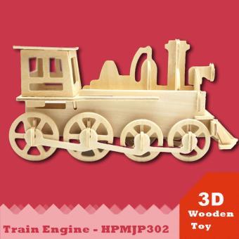Đồ chơi xếp hình đầu máy xe lửa 3D Puzzle Wooden HPM5302
