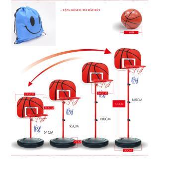 Bộ đồ chơi bóng rổ thân sắt cao 1.65m (Tặng kèm 1 túi dây rút)