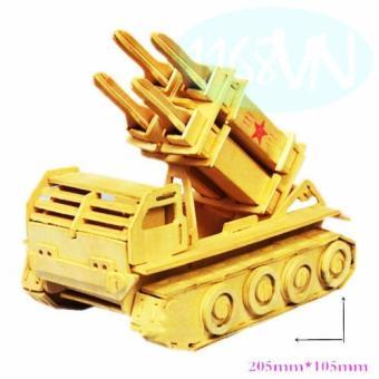 Bộ xếp hình 3D xe phóng tên lửa
