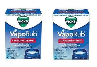 Bộ 2 Dầu Bôi Ấm Ngực Giảm Ho Cho Trẻ Vicks VapoRub 100g