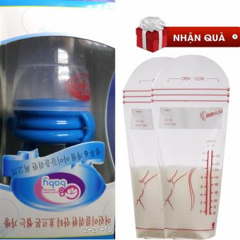 Túi nhai chống hóc cho bé (Xanh)+ Tặng 02 túi trữ sữa Sunmum