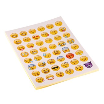 20 sheets/Pack Emoji Stickers Smily Face Stickers For Notebook Message - intl