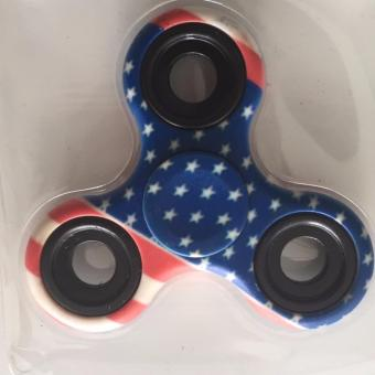 Đồ chơi con quay Fidget Spinner Cao cấp (hoa văn quốc kỳ Mỹ)