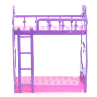 Plastic Bunk Bed w/ Ladder 1:6 For Barbie Doll's House Dollhouse Furniture - intl