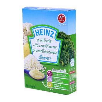 Bột ăn dặm Heinz 4+ vị súp lơ, bông cải, phô mai 125g
