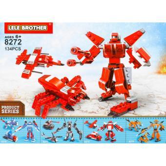 Bộ lắp ráp chiến binh nhện đỏ - TRANSFORMER FIGHTER - 3in1 - 8272