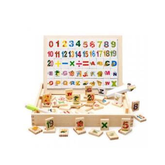 Hộp bảng chữ cái và số bằng gỗ