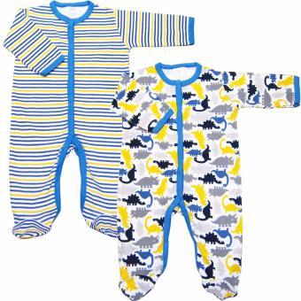 Bộ 2 áo liền quần liền vớ bé trai Baby Gear (Mẫu khủng long 23)