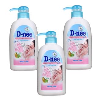 Bộ 3 chai nước rửa bình sữa D-nee x 500ml
