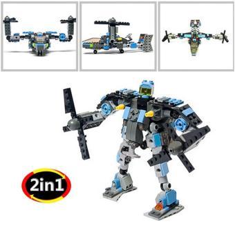 Bộ xếp hình LEGO Máy Bay Biến Hình BINBIN XH06(Đen)