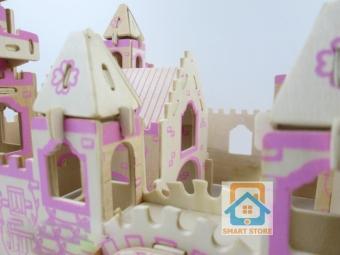 Bộ đồ chơi ghép nhà gỗ 3D mô hình Lâu đài