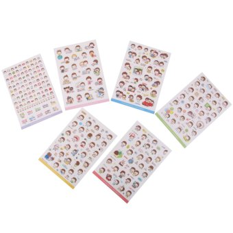 6 Sheets Cute Momoi Scrapbooking Memo Stickers Diary Book Sticker Decoration - Intl