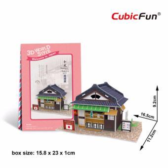 Mô hình sa bàn Cubic Fun 3D bằng giấy cứng: Quán rượu Izakaya của người Nhật
