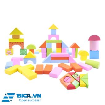 Bộ Xếp Hình Lâu Đài Bằng Gỗ Cho Bé Dream Toy (100 Miếng) – USA 2682