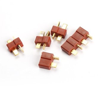 RC Lipo Helicopter 10 Pair T Plug Connectors Male Female for Deans - Intl
