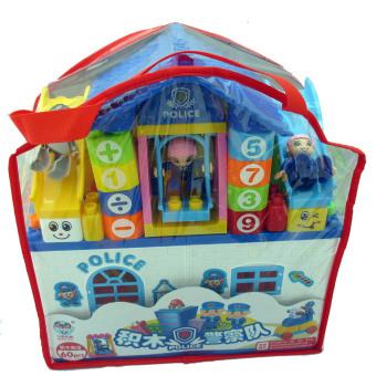 Đồ chơi xếp hình ngôi nhà cảnh sát kích thích trí não cho bé 808-16 60 chi tiết bằng nhựa