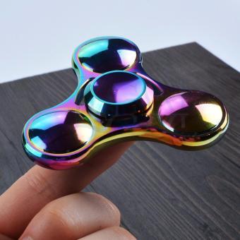 Con Quay 7 màu cầu vồng Hand Fidget Spinner 3 cánh mạ titan 60-120 giây Legaxi HSBE