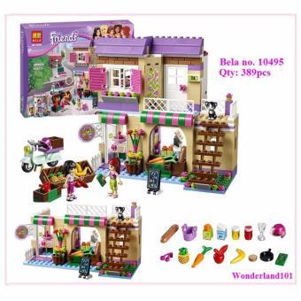 Bộ xếp hình Bela Friends - Cửa hàng thực phẩm Heartlake