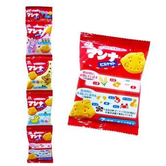 Bộ 8 Bánh ăn Dặm Hình gấu Morinaga Japan cho Bé từ 7 tháng (13gx8)