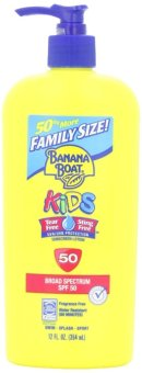 Kem chống nắng trẻ em size đại Banana Boat Kids Broad Spectrum Sun Care Sunscreen Lotion SPF 50 354ml