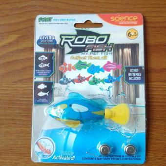 Cá cảnh chạy pin có đèn led Robo Fish
