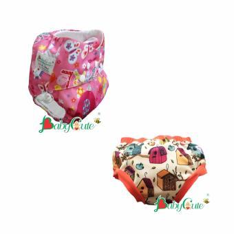 Combo 1 Bộ tã vải ngày và 1 Bộ tã vải quần short ngày BabyCute size M (8-16kg) Ngựa tiên, Nhà chim