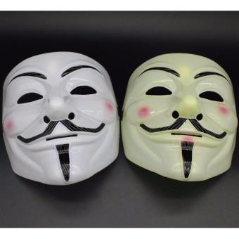 Bộ 2 Mặt nạ Hacker Anonymous Vàng và Trắng