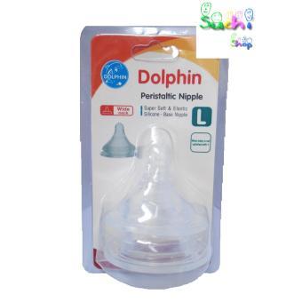 Bộ 2 núm silicone cho bình cổ rộng Dolphin ( size L)