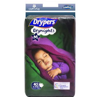 Tã dán Drypers Drynights M.40( 6-11kg)