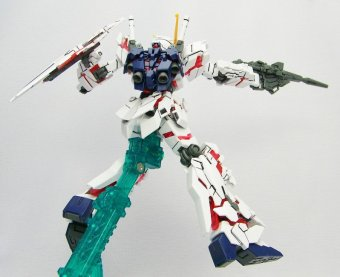 Mô Hình Lắp Ráp High Grade Universal Century Rx-0 Unicorn Gundam Destroy Mode.