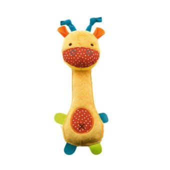Fancyqube Fashion Cute Cartoon Image Baby Zoo Series BB Stick Rattle Plush Favorites