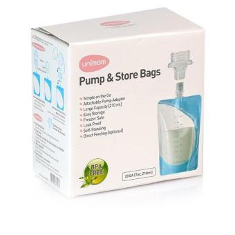 Túi Trữ Sữa Mẹ Trực Tiếp Từ Máy Hút Sữa Unimom 20 Túi
