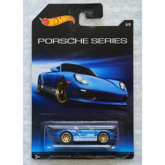 Xe ô tô mô hình tỉ lệ 1:64 Hot Wheels Porsche Series Porsche Boxter Spyder - Xanh