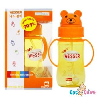 Bình uống nước Wesser 260ml hình gấu (260ml)