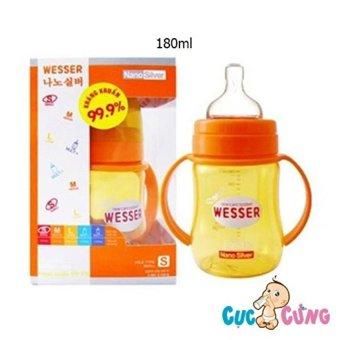 Bình sữa Wesser cổ rộng 180ml (Vàng)