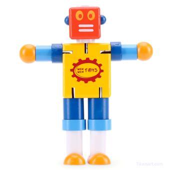 Đồ chơi robot bằng gỗ Winwintoys - cậu bé người máy