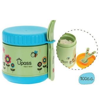 Hộp giữ ấm không BPA 300 ml có kèm thìa, dĩa Upass UP9551Y