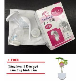 Máy hút sữa bằng tay Kichilachi (Trắng) + Tặng kèm 1 Đèn ngủ cảm ứng hình nấm